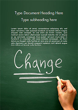 Blackboard Concept for The Word Change Word Template, Cover Page, 14924, Education & Training — PoweredTemplate.com