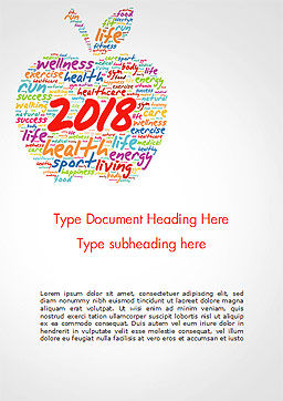 2018 Apple Word Cloud Collage Word Template, Cover Page, 14925, Holiday/Special Occasion — PoweredTemplate.com