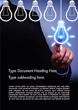 Innovation Concepts Word Template, Cover Page, 14926, Business Concepts — PoweredTemplate.com