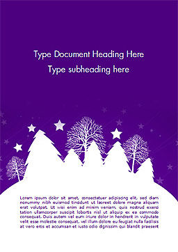 Christmas Holiday Background Word Template, Cover Page, 14928, Holiday/Special Occasion — PoweredTemplate.com