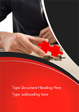 Last Piece of Puzzle Word Template, Cover Page, 14930, Business Concepts — PoweredTemplate.com