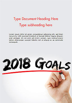 2018 Goals Word Template, Cover Page, 14932, Business Concepts — PoweredTemplate.com