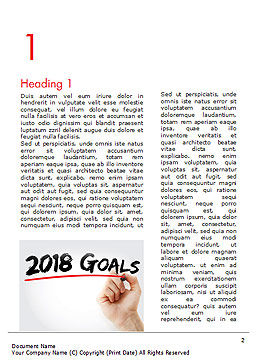 2018 Goals Word Template, First Inner Page, 14932, Business Concepts — PoweredTemplate.com