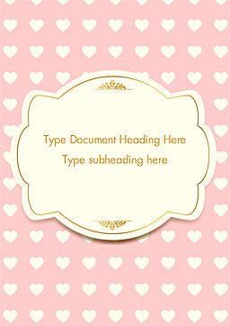 Label Frame on Hearts Background Word Template, Cover Page, 14934, Holiday/Special Occasion — PoweredTemplate.com