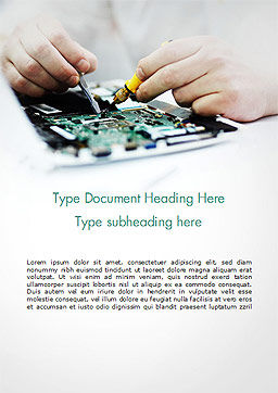Computer Repair Services Word Template, Cover Page, 14937, Careers/Industry — PoweredTemplate.com