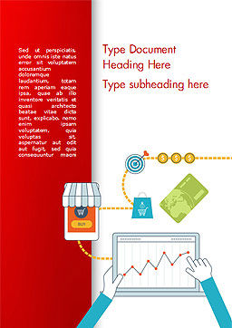 Ecommerce and Marketing Word Template, Cover Page, 14939, Careers/Industry — PoweredTemplate.com