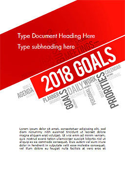 2018 Goals Word Cloud Word Template, Cover Page, 14941, Business Concepts — PoweredTemplate.com