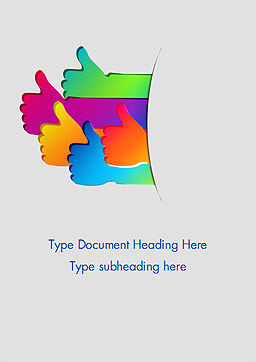 Thumbs Symbol Up Word Template, Cover Page, 14943, Business Concepts — PoweredTemplate.com