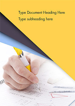Test Study Word Template, Cover Page, 14945, 3D — PoweredTemplate.com