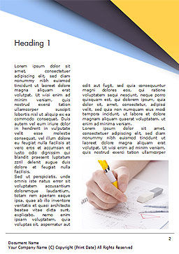 Test Study Word Template, First Inner Page, 14945, 3D — PoweredTemplate.com
