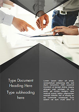 Consultation Word Template, Cover Page, 14954, Business Concepts — PoweredTemplate.com