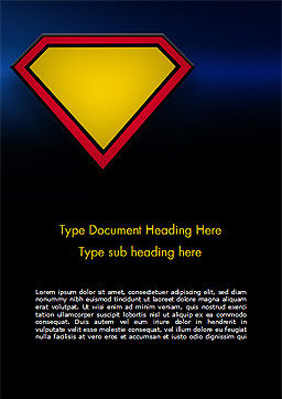 Superman Sign Frame Word Template, Cover Page, 14958, Abstract/Textures — PoweredTemplate.com