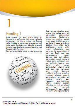 E-Learning Word with Formulas Word Template, First Inner Page, 14959, Education & Training — PoweredTemplate.com
