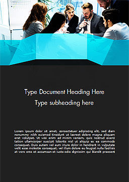 Group of Business People Working Together Word Template, Cover Page, 14960, Business — PoweredTemplate.com