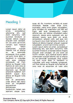 Group of Business People Working Together Word Template, First Inner Page, 14960, Business — PoweredTemplate.com
