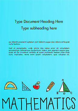 Mathematical Doodles Word Template, Cover Page, 14968, Education & Training — PoweredTemplate.com