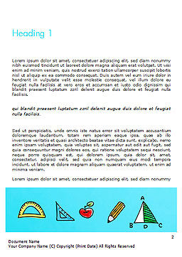 Mathematical Doodles Word Template, First Inner Page, 14968, Education & Training — PoweredTemplate.com