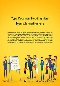 Business People Team Training Conference Meeting Word Template, Cover Page, 14969, Business — PoweredTemplate.com