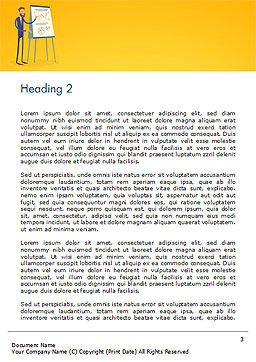 Business People Team Training Conference Meeting Word Template, Second Inner Page, 14969, Business — PoweredTemplate.com