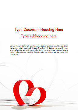 Paper Hearts for Valentines Day Word Template, Cover Page, 14971, Holiday/Special Occasion — PoweredTemplate.com