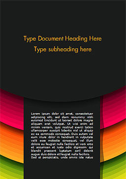 Bright Gradient Semicircles Word Template, Cover Page, 14972, Abstract/Textures — PoweredTemplate.com