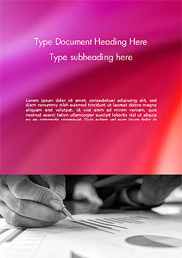 Report Analysis Word Template, Cover Page, 14986, Business — PoweredTemplate.com