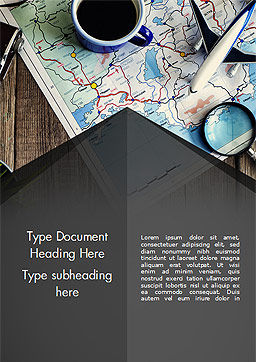 Travel Planning Word Template, Cover Page, 14989, Holiday/Special Occasion — PoweredTemplate.com