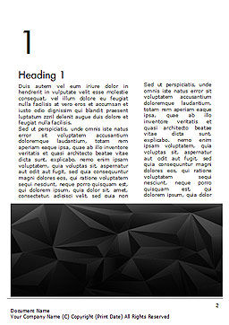 Dark Abstract Geometric Triangles Word Template, First Inner Page, 14991, Abstract/Textures — PoweredTemplate.com