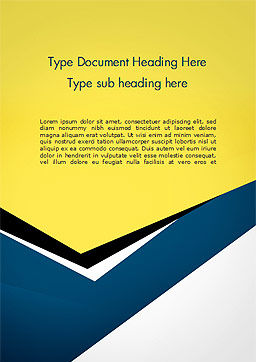Abstract Cutted Paper Word Template, Cover Page, 14994, Abstract/Textures — PoweredTemplate.com