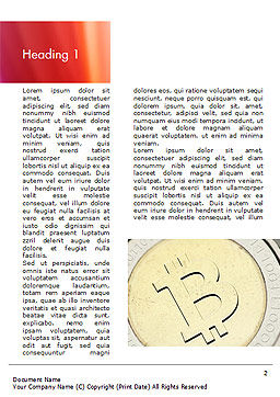 Golden Bitcoin Word Template, First Inner Page, 14996, Technology, Science & Computers — PoweredTemplate.com