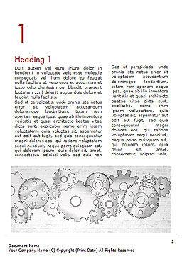 Cartoon Gear Wheels Word Template, First Inner Page, 14997, Technology, Science & Computers — PoweredTemplate.com