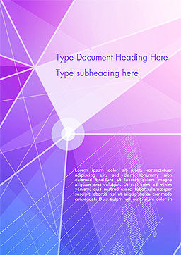 Abstract Purple Triangles Word Template, Cover Page, 14999, Abstract/Textures — PoweredTemplate.com