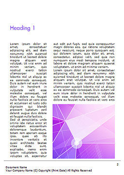 Abstract Purple Triangles Word Template, First Inner Page, 14999, Abstract/Textures — PoweredTemplate.com