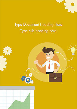 Man with Business Ideas Design Concept Word Template, Cover Page, 15000, Business Concepts — PoweredTemplate.com