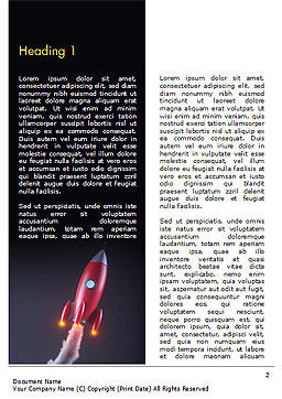 Red Rocket Launching Word Template, First Inner Page, 15001, Technology, Science & Computers — PoweredTemplate.com