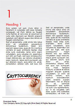 A Hand Writing Cryptocurrency with Marker Word Template, First Inner Page, 15004, Business Concepts — PoweredTemplate.com