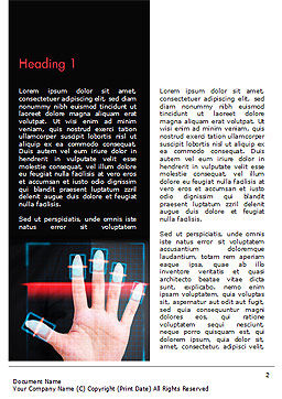 Fingerprint Scanning Word Template, First Inner Page, 15008, Technology, Science & Computers — PoweredTemplate.com