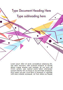Pastel Colorful Triangles Word Template, Cover Page, 15011, Abstract/Textures — PoweredTemplate.com