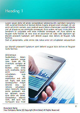 Mobile Trading Word Template, First Inner Page, 15015, Business Concepts — PoweredTemplate.com