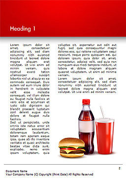 Fast Food Menu Word Template, First Inner Page, 15018, Food & Beverage — PoweredTemplate.com