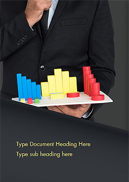 Businessman Holding Chart Graph Word Template, Cover Page, 15022, Business Concepts — PoweredTemplate.com
