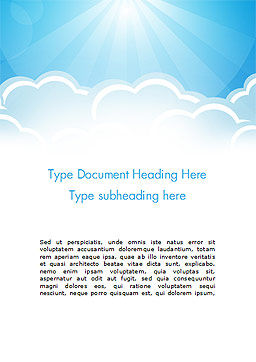 Over the Clouds Word Template, Cover Page, 15024, Nature & Environment — PoweredTemplate.com