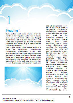 Over the Clouds Word Template, First Inner Page, 15024, Nature & Environment — PoweredTemplate.com