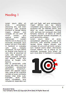 10 with Dartboard Word Template, First Inner Page, 15025, Business Concepts — PoweredTemplate.com
