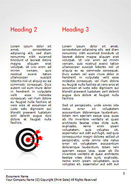 10 with Dartboard Word Template, Second Inner Page, 15025, Business Concepts — PoweredTemplate.com