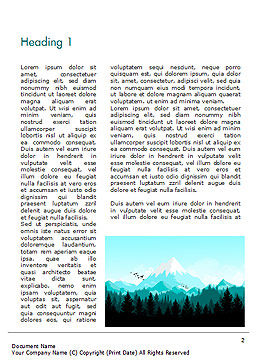 Mountain Forest Word Template, First Inner Page, 15031, Nature & Environment — PoweredTemplate.com
