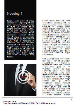 Businessman Pressing on Target Goal Word Template, First Inner Page, 15034, Business Concepts — PoweredTemplate.com