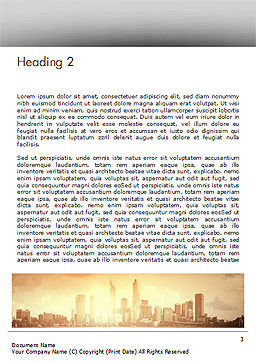 City Skyline Photo Word Template, Second Inner Page, 15035, Construction — PoweredTemplate.com