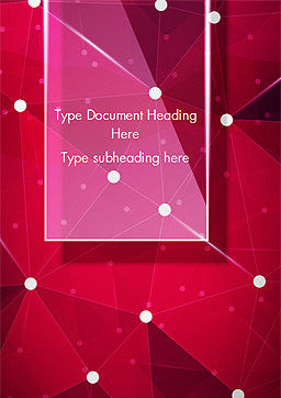 Connected Dots on Red Background Word Template, Cover Page, 15036, Abstract/Textures — PoweredTemplate.com