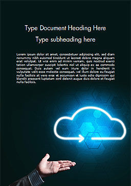 Concept of Cloud Service Word Template, Cover Page, 15038, Technology, Science & Computers — PoweredTemplate.com